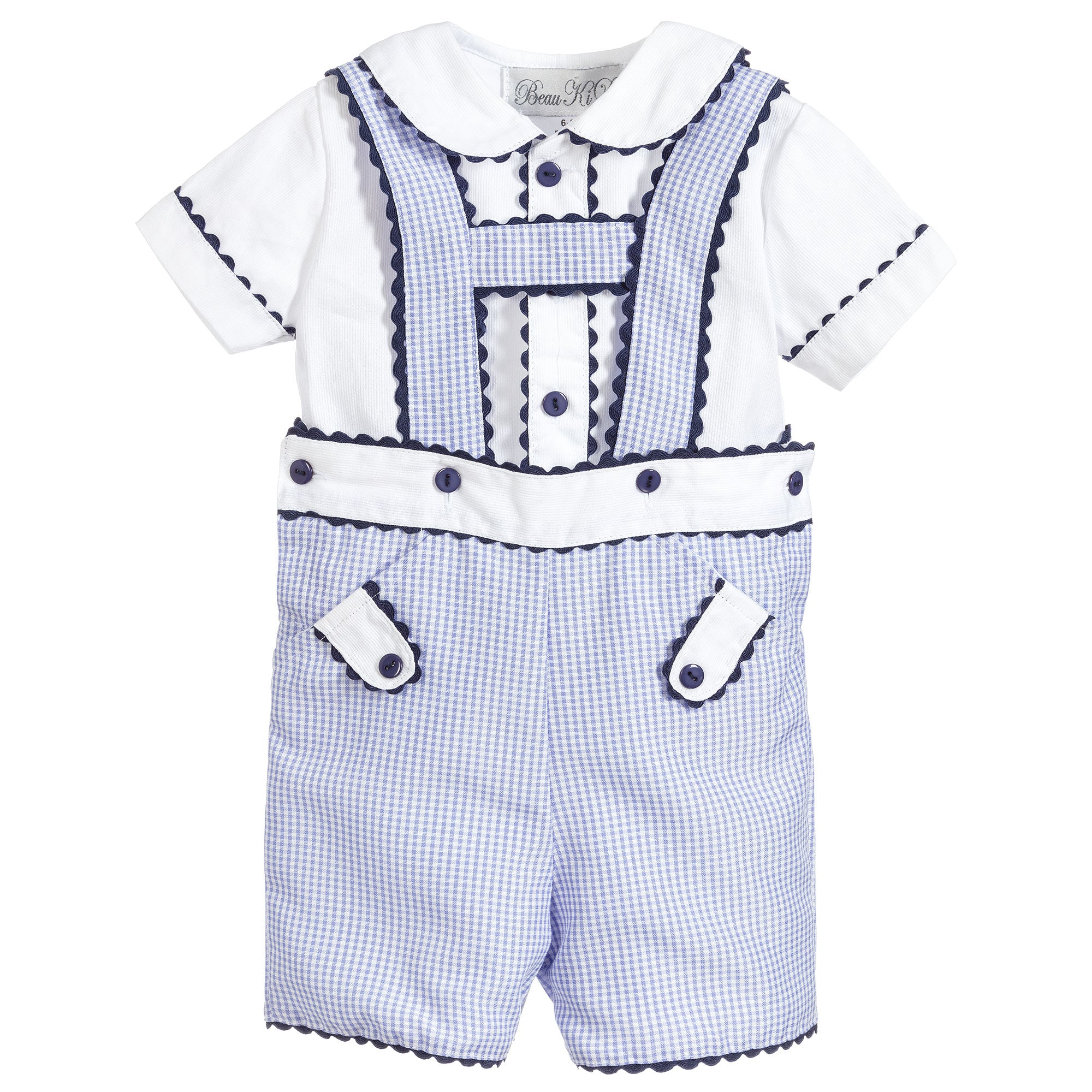 Beau Kid Boys Navy H Bar Set