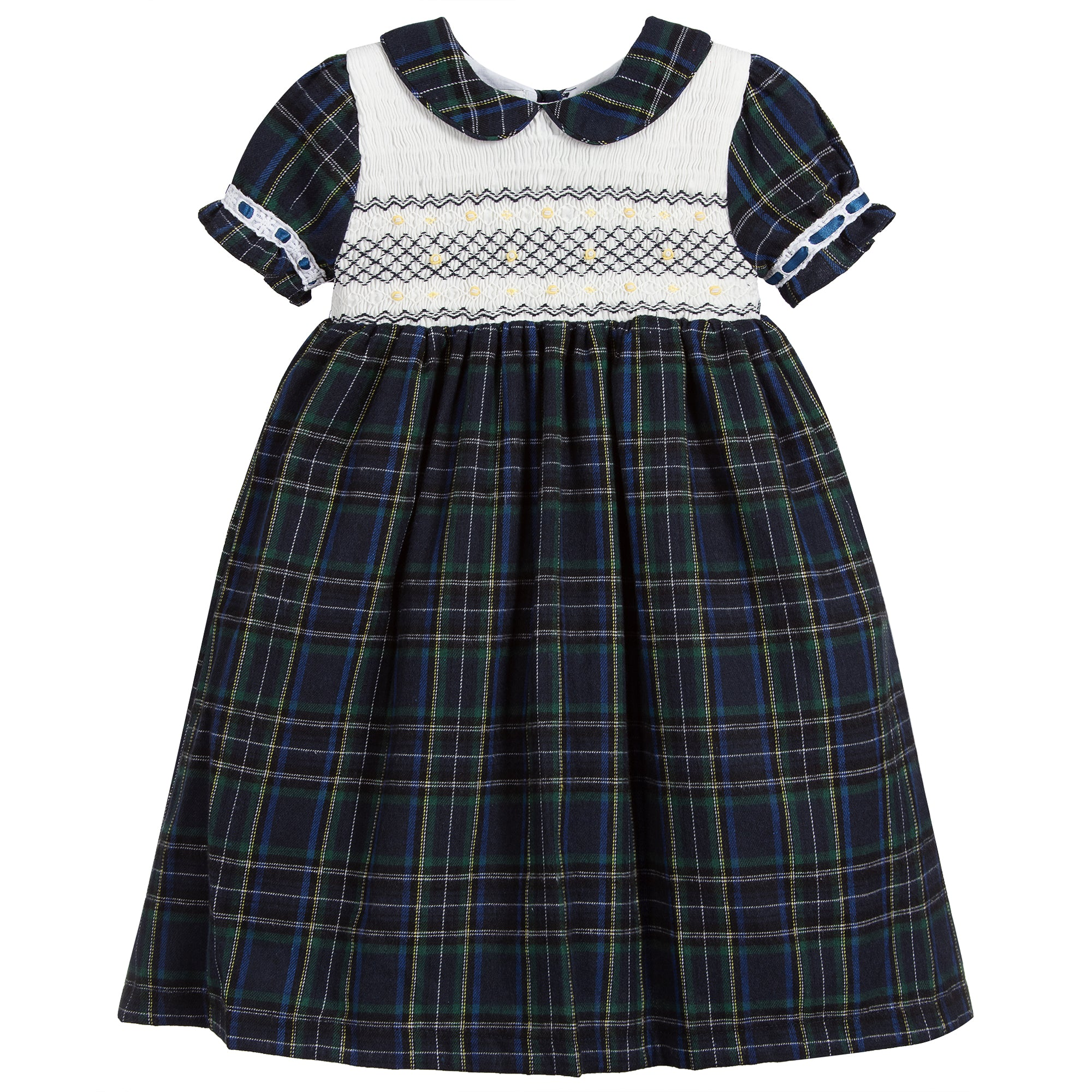 Beau Kid Classic Tartan Navy Dress