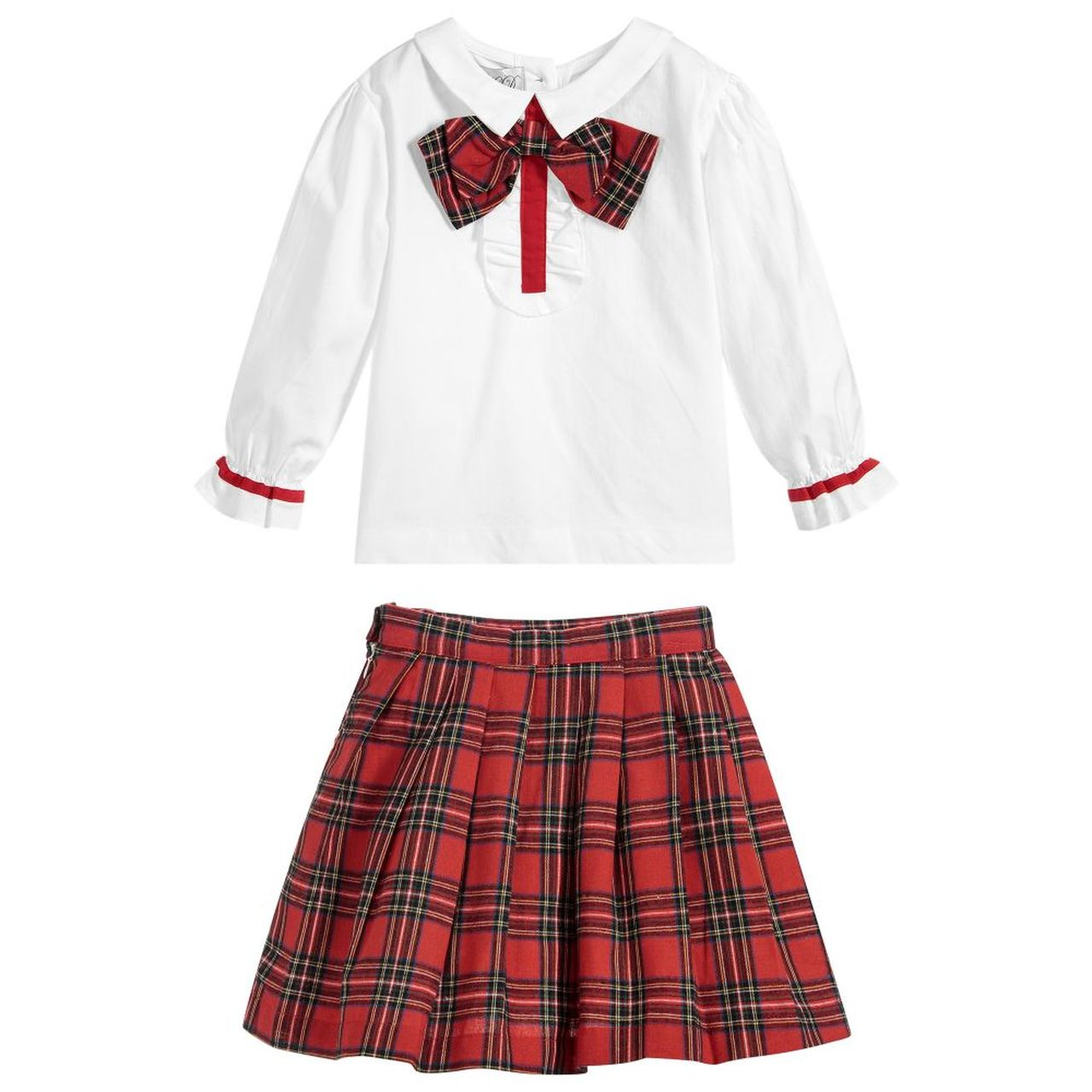 Beau Kid Tartan Skirt Set