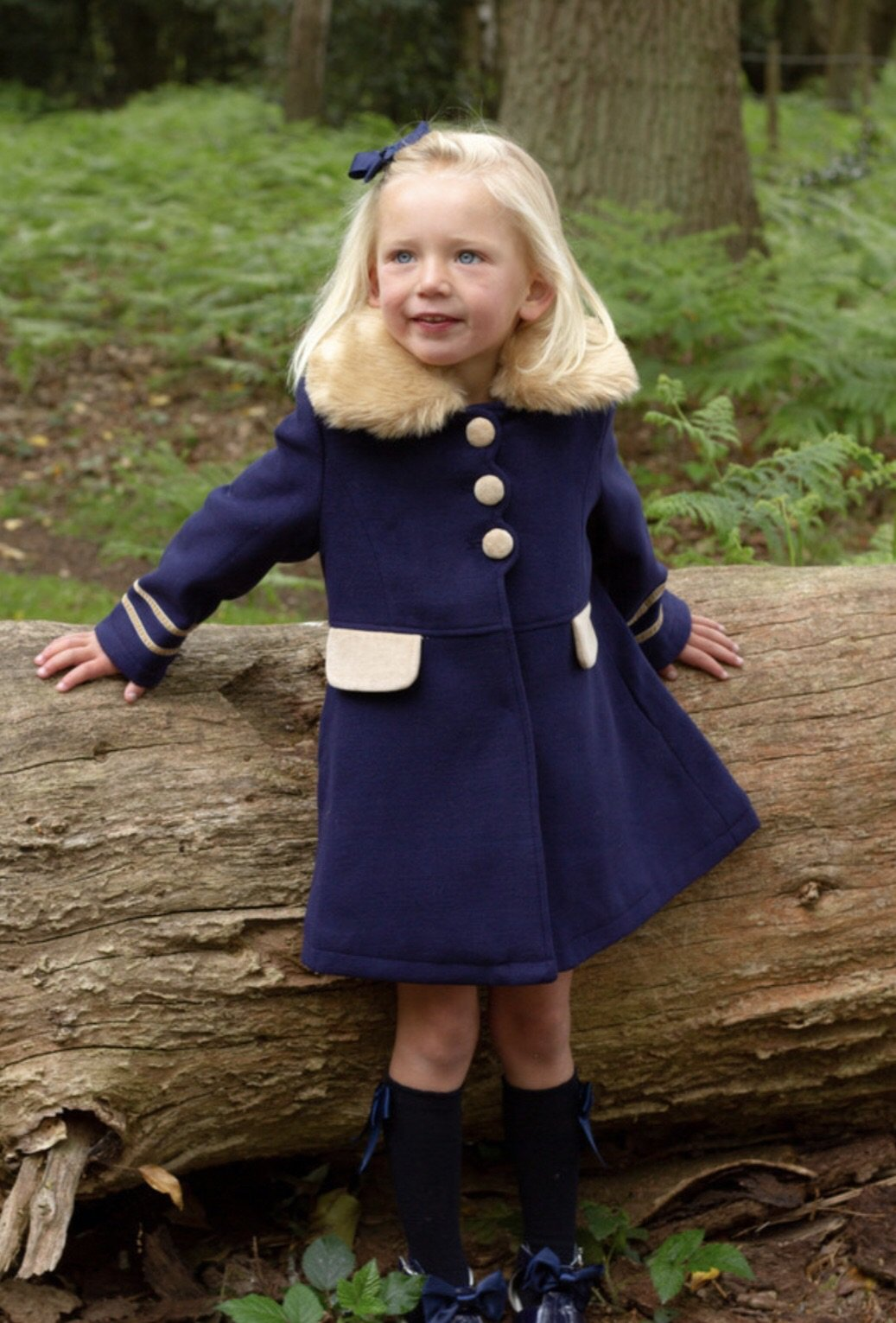 Beau Kid Navy Traditional Coat