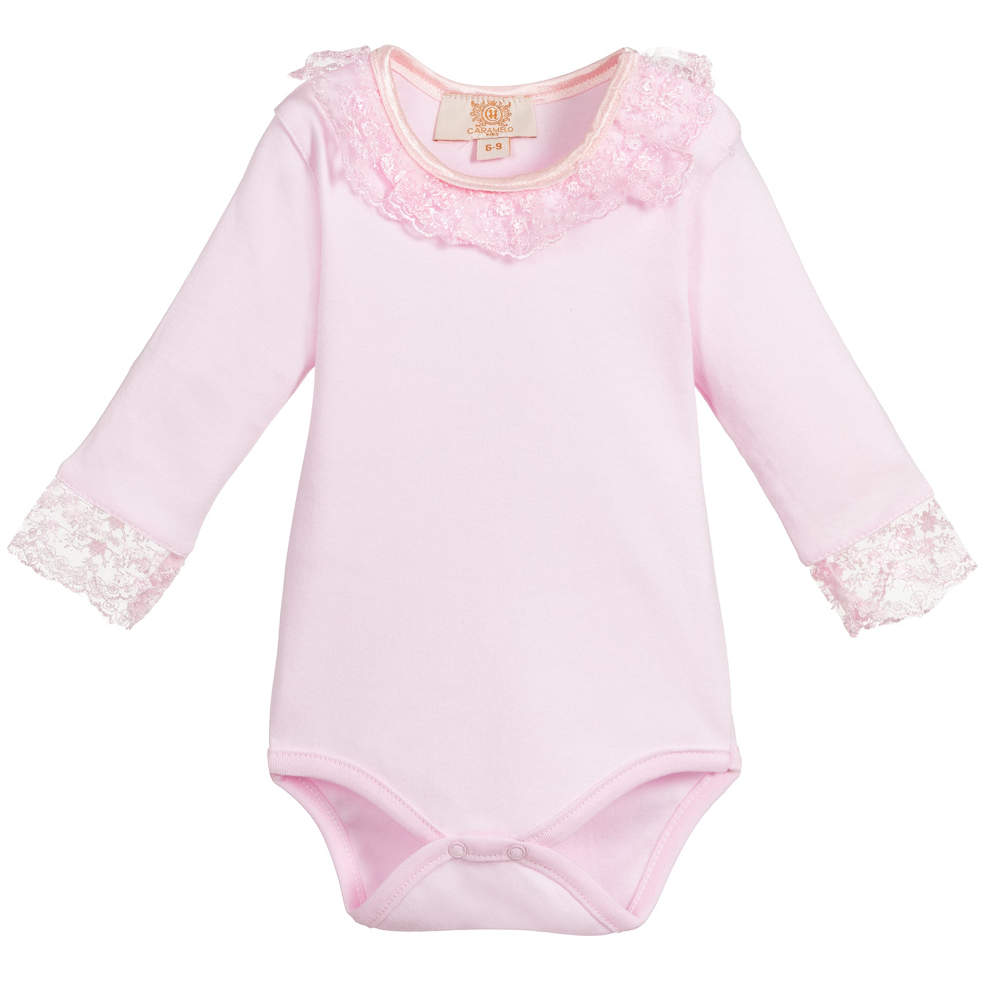 Caramelo Kids Long Sleeve Pink Frill Bodysuit