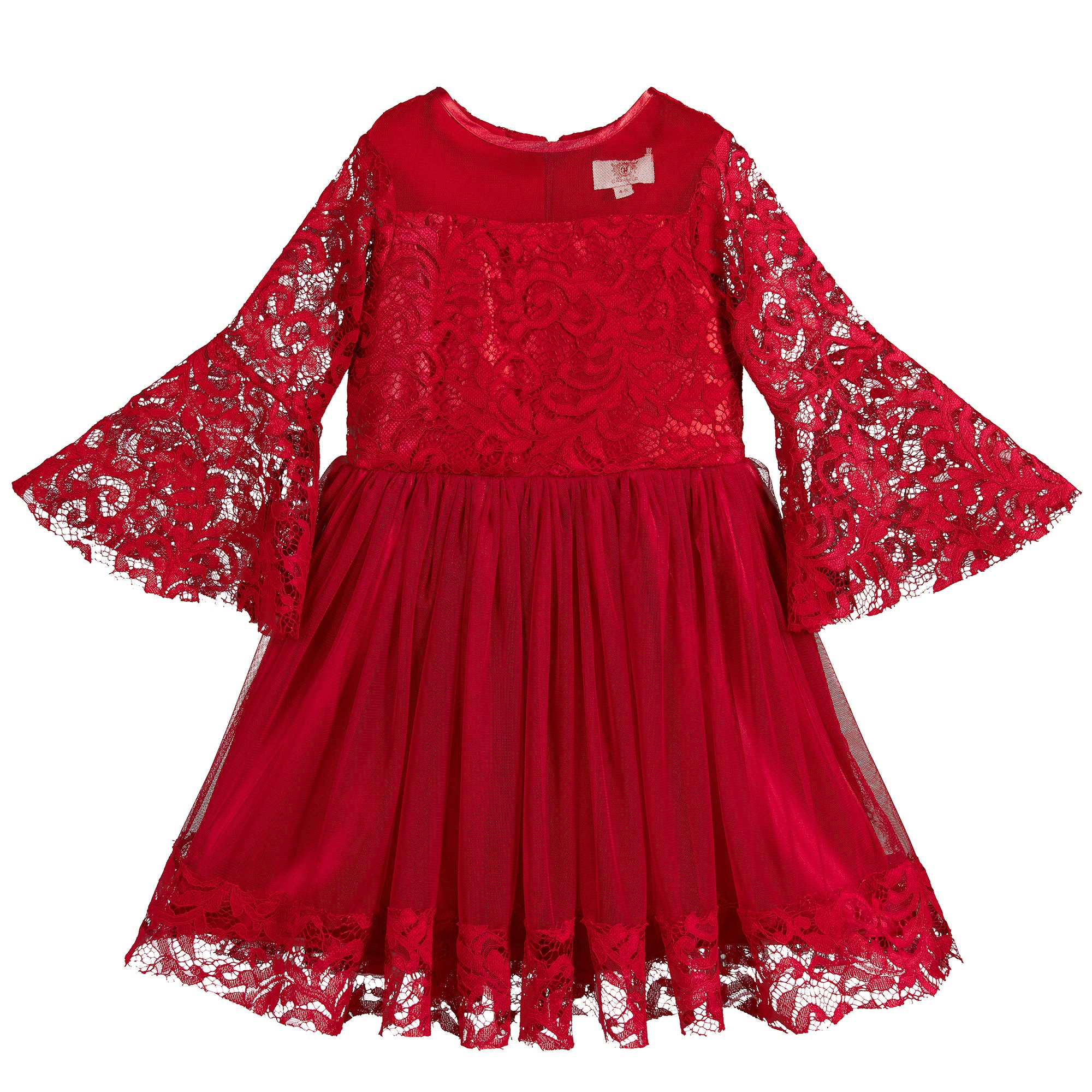 Caramelo Kids Red Lace Dress