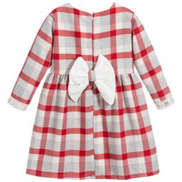 Caramelo Kids Red Bow Check Dress