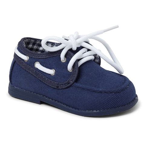 Navy Gavin Boys Hard Sole Shoe