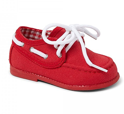 Red Gavin Boys Hard Sole Shoe