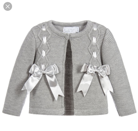 Couche Tot Grey Bow Cardigan