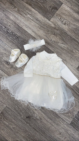 Couche Tot Ivory Tulle 4-Piece Set