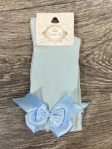 Couche Tot Blue Bow Socks