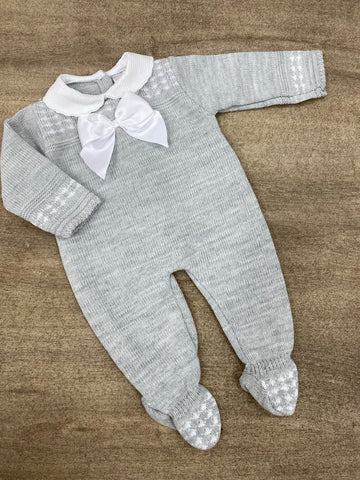 Chloe Grey Knitted Onesie