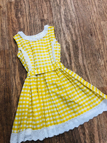 Powell Craft Yellow Gingham Dress