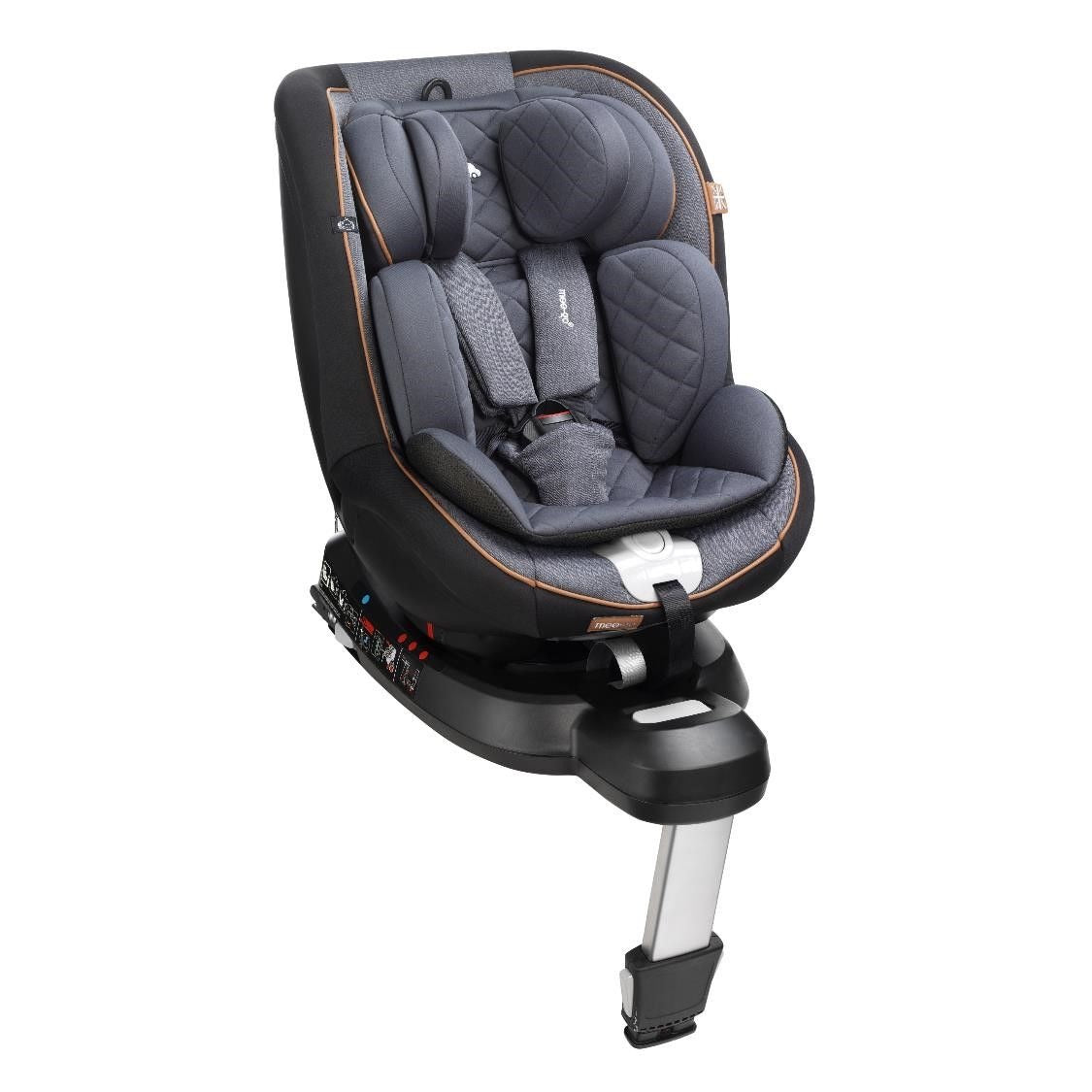 Mee-Go Swirl Black Caramel I-Size Group 0+/1 360 Spin Car Seat
