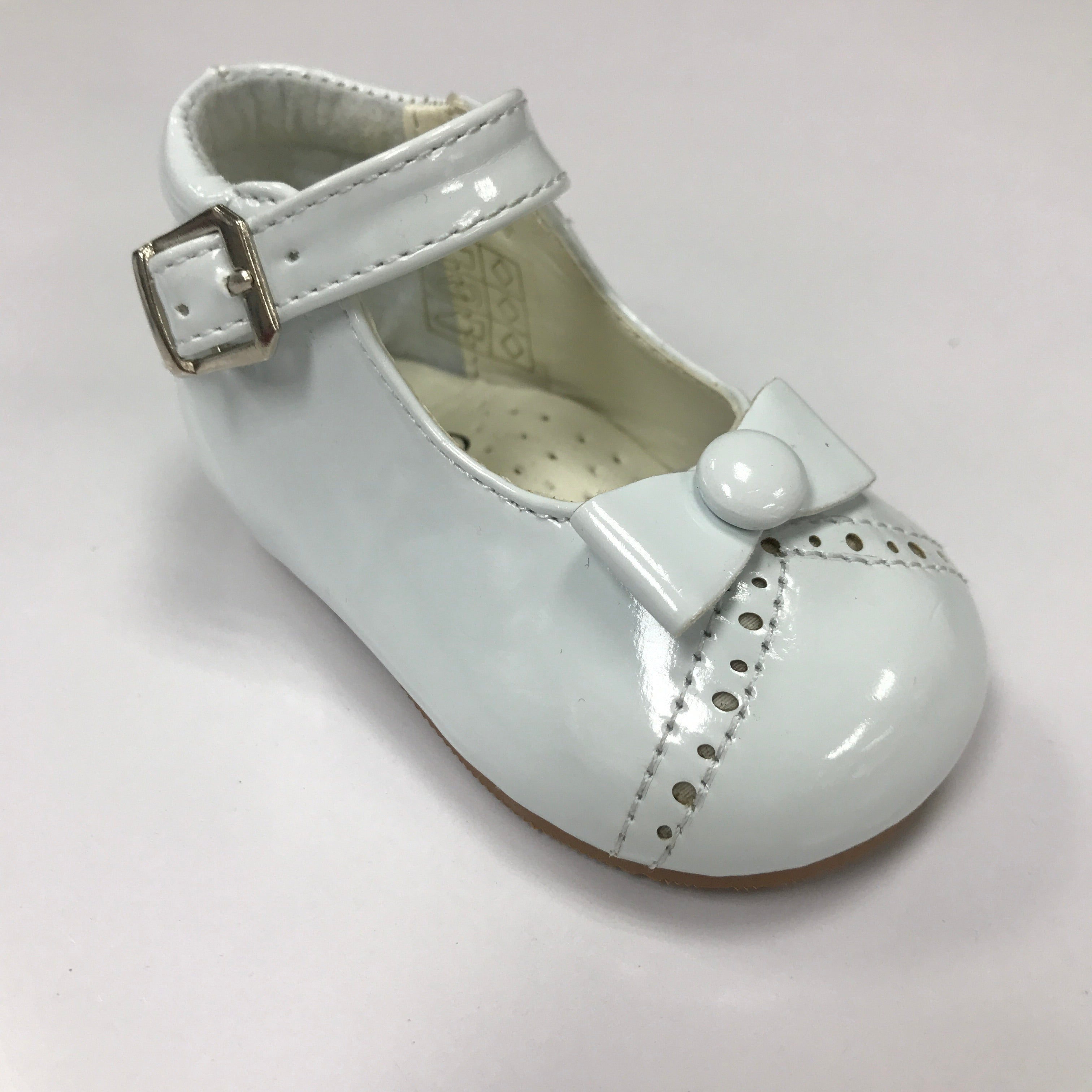 White Monica Patent Shoe