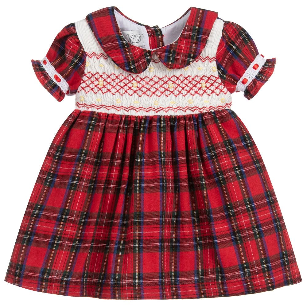 Beau Kid Classic Tartan Red Dress