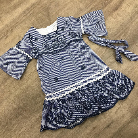 Paisley Blue Dress with Headband