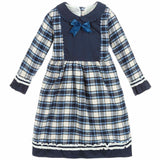 Beau Kid Navy Tartan Dress + FREE Navy Tutu Socks