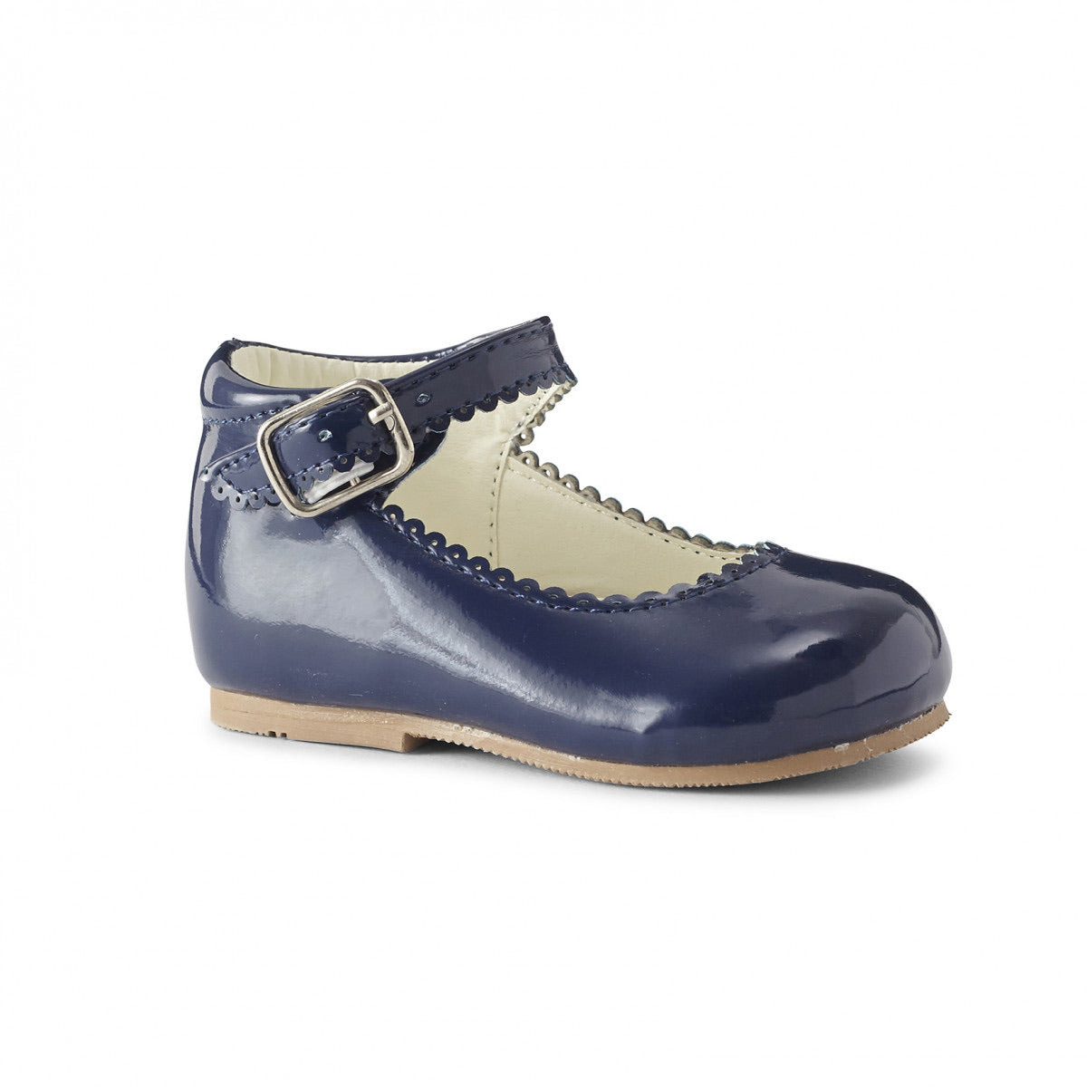 Camila Navy Hard Sole Shoe