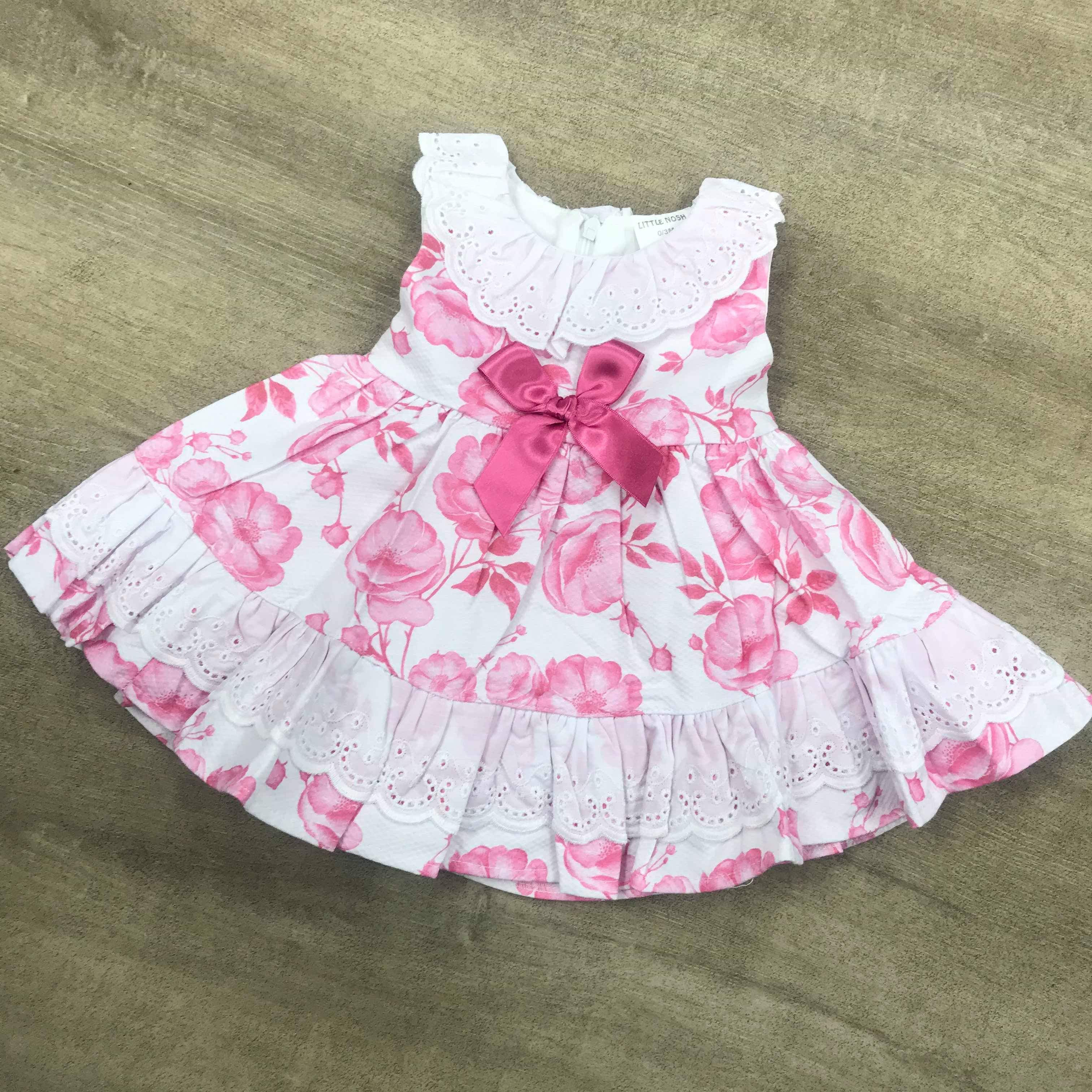 Spanish Flower Dress Pink