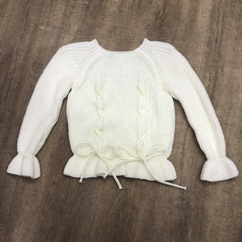 Cable Knit Bow Jumper Cream