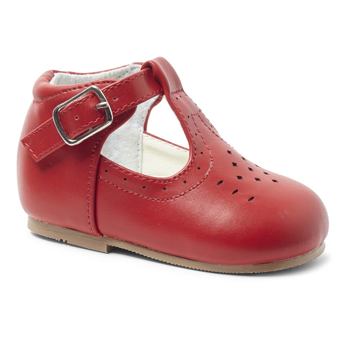 Boys Red Matte T Bar Aaron Shoe