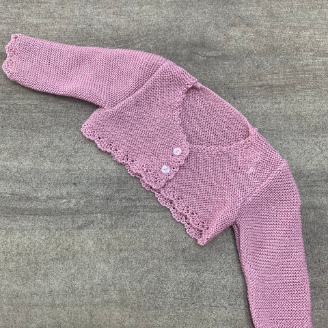 Spanish Knitted Cardigan Dusty Pink