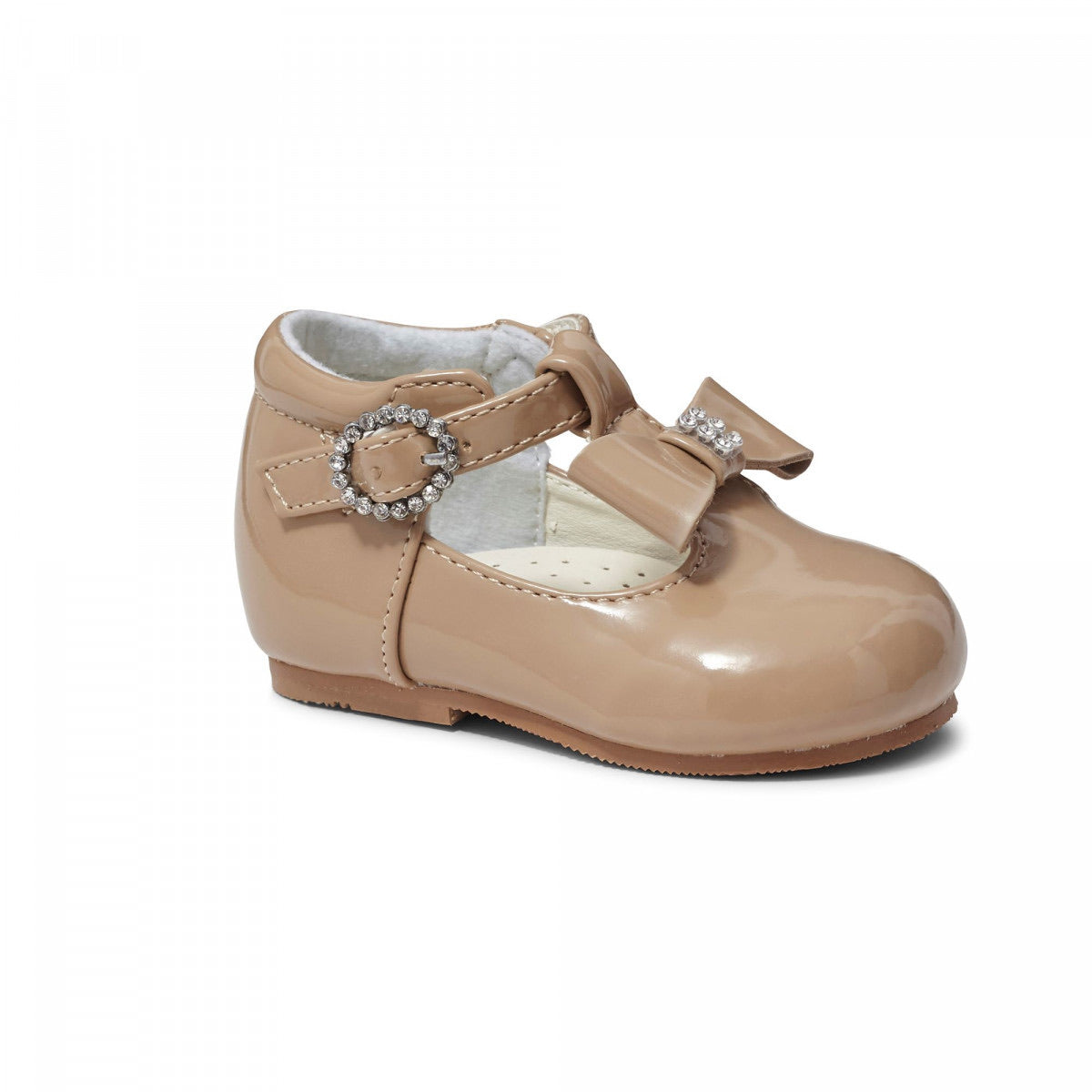 Lily Camel Bow Patent Shoe
