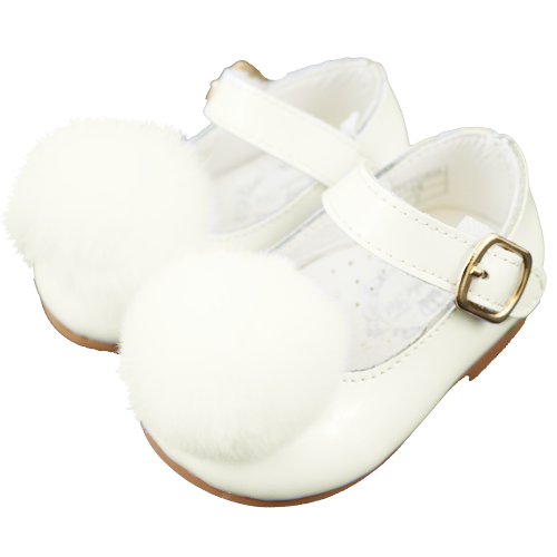 Couche Tot Victoria Pom Pom Shoes Ivory