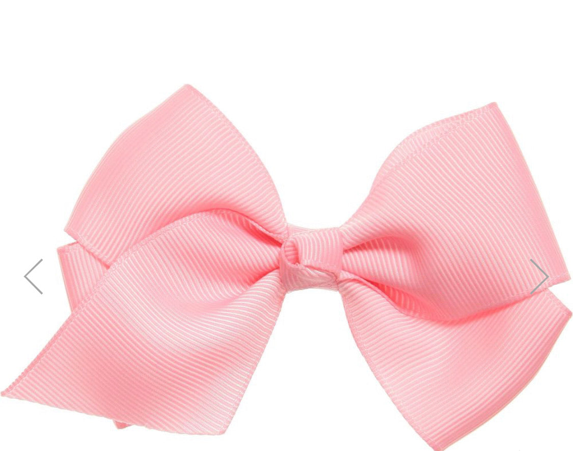 Monogrammed Bow 4inch Pink