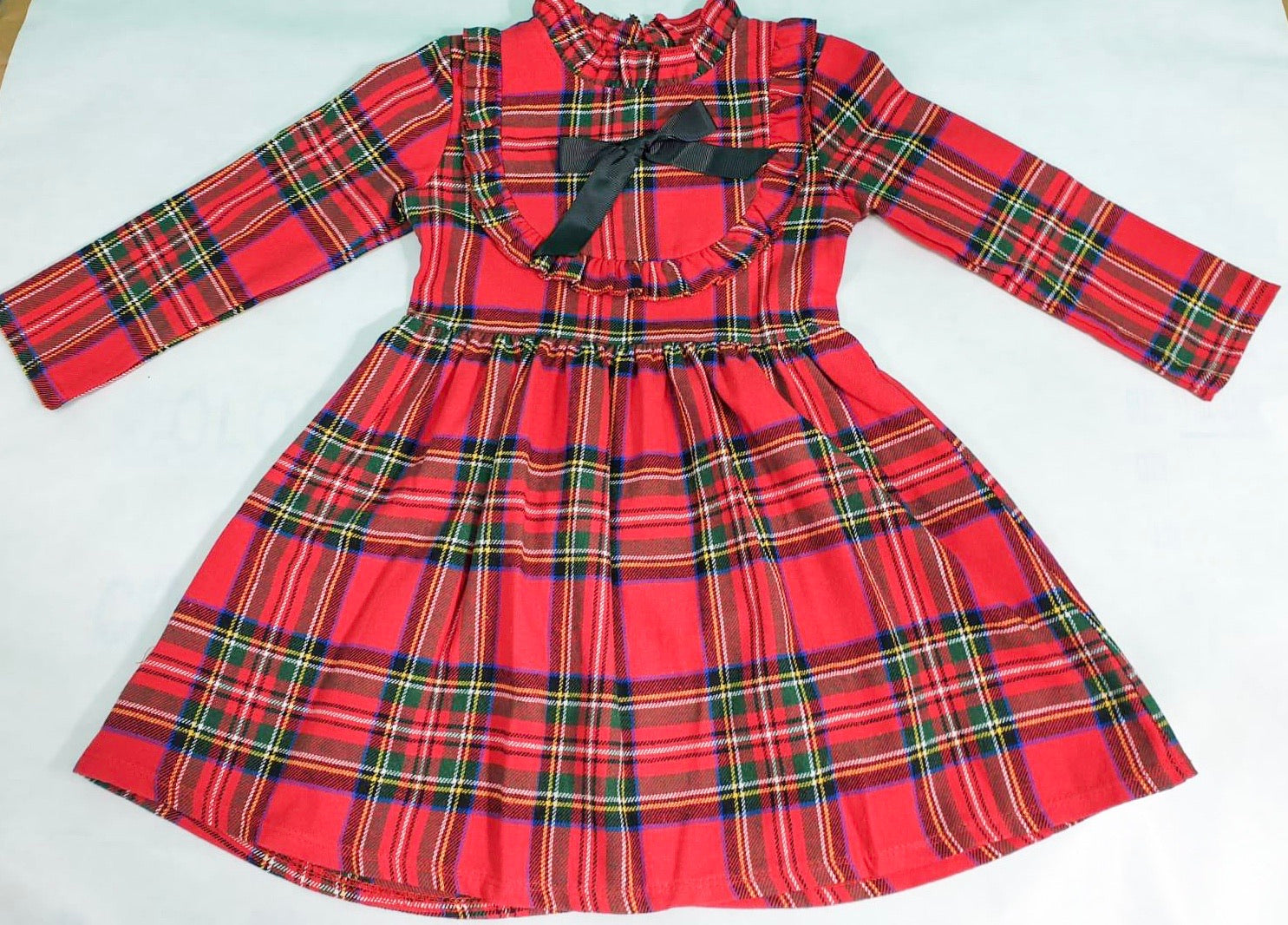Classic Tartan Dress Red
