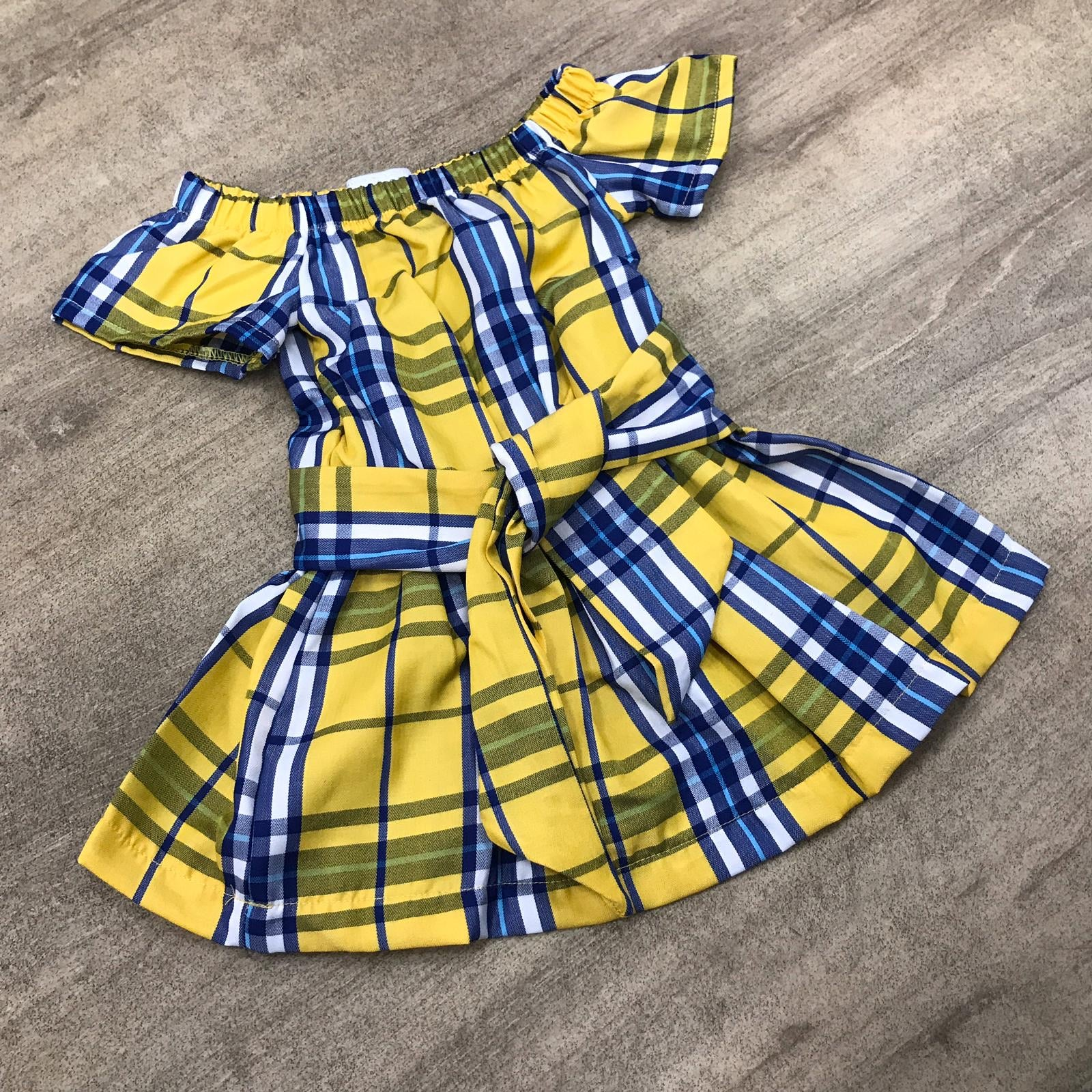 Checked Lemon Dress