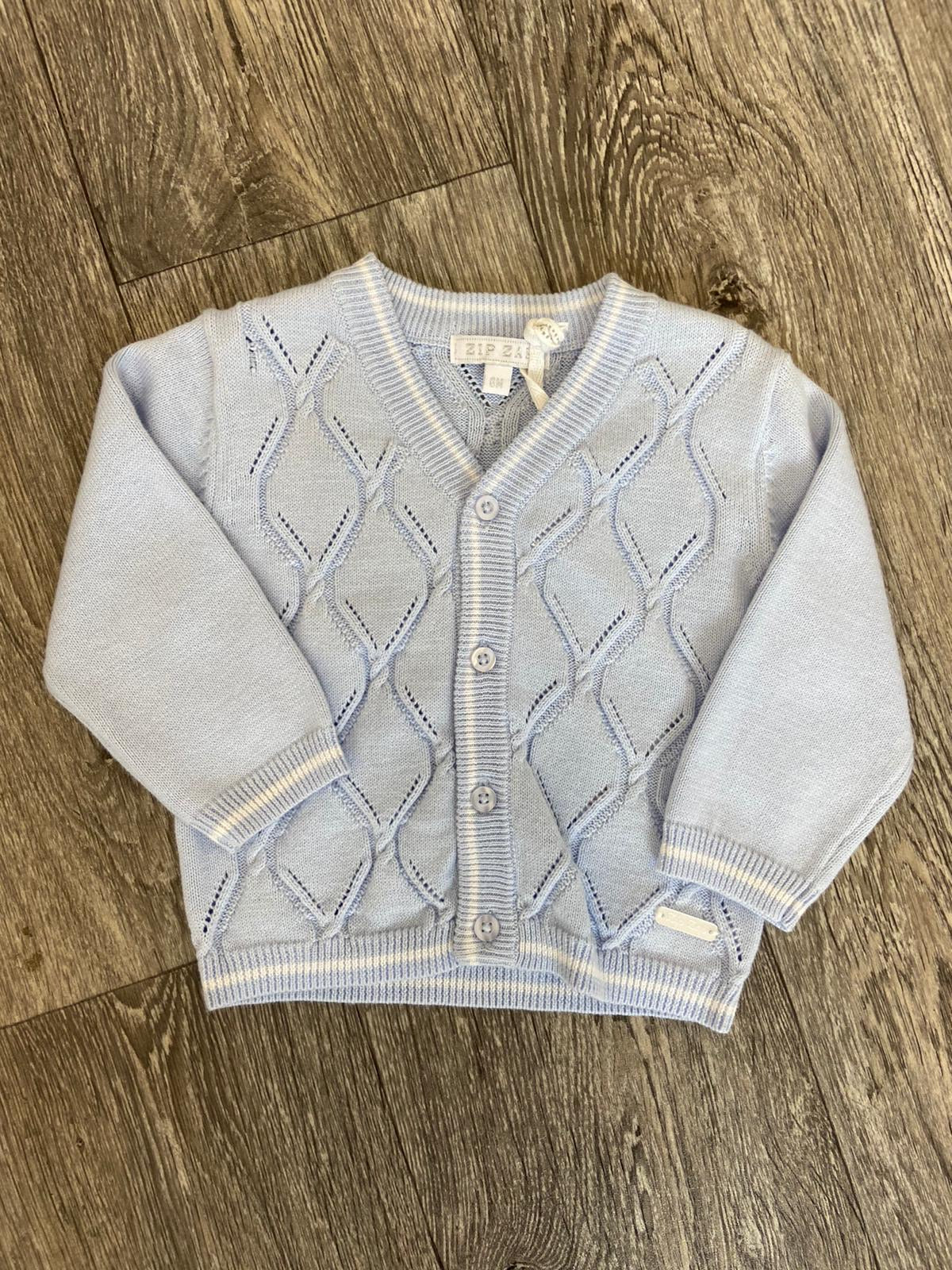 Blues Baby Jacquard Cardigan Sky Blue
