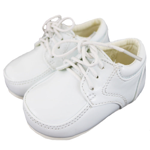 Sevva Lace Up Boys Shoes White