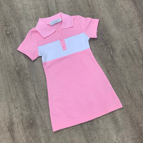 Classic Polo Dress Pink