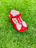 Special Offer Emily Red/White Bow Shoe