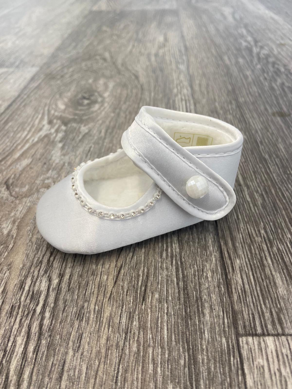 Laura White Pram Shoes