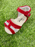 Dotty Patent Red Sandals