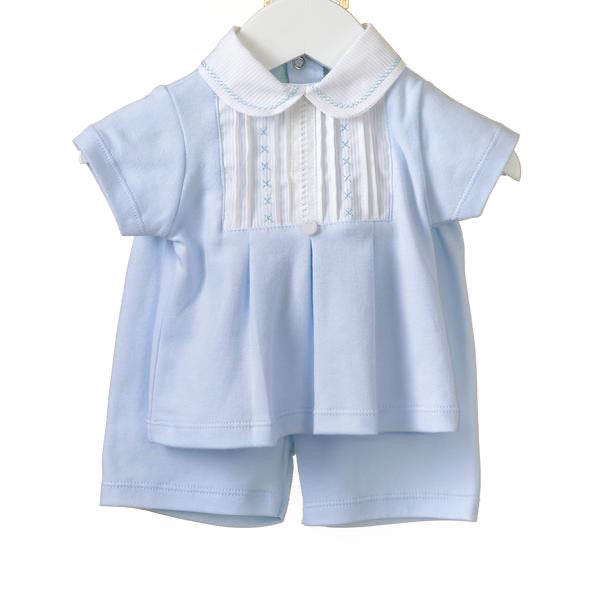 Blues Baby Peter Pan Jersey Short Set