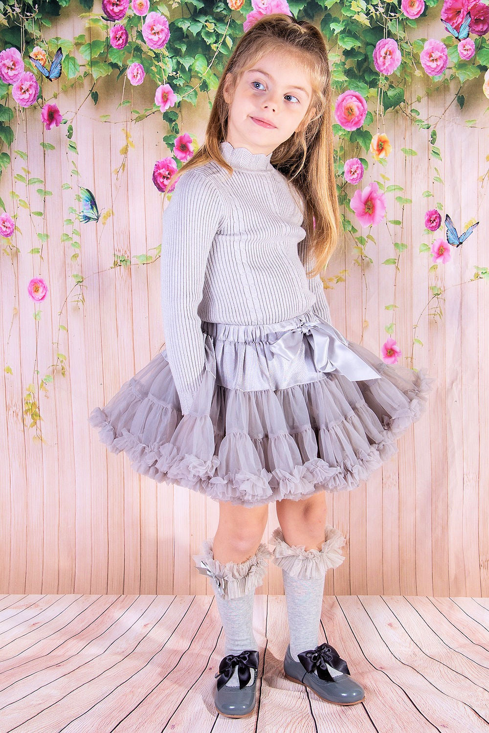 Beau Kid Tutu & Jumper Set Grey