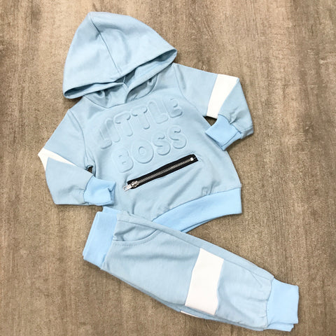 Sky Blue Little Boss Tracksuit