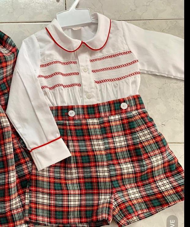 Mabini Boys Winter Smocked Short Set