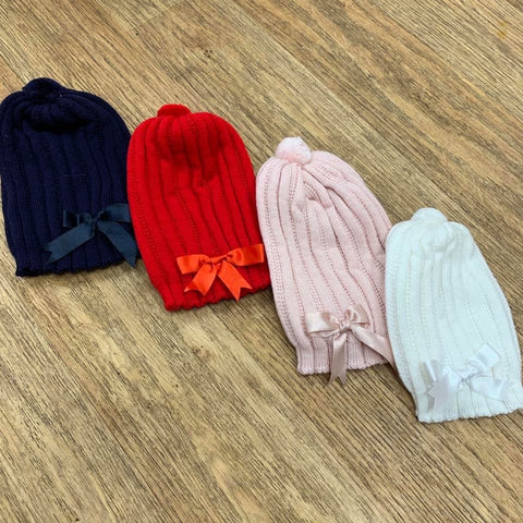 Special Offer Knitted Bow Hat (2-6years)