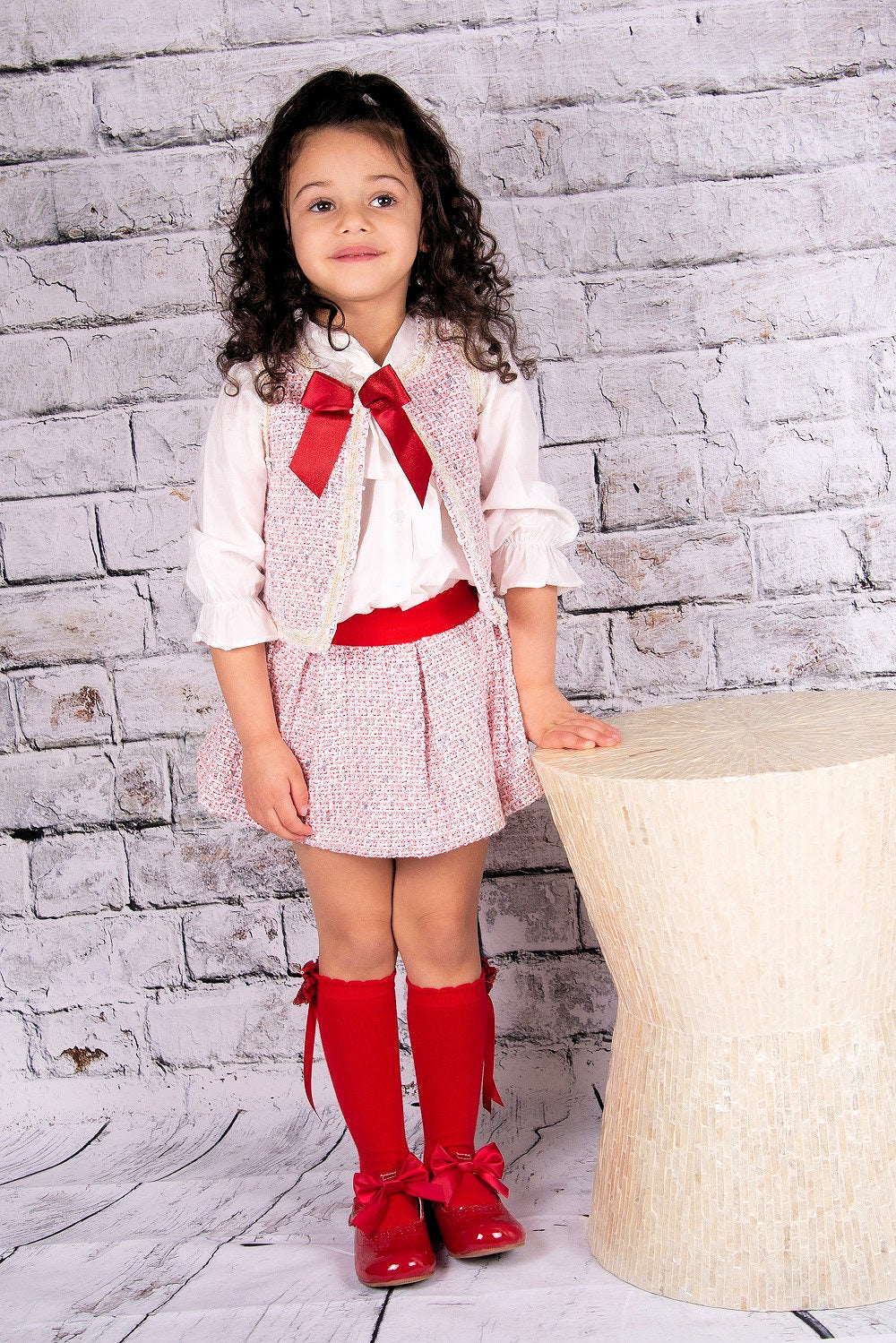 Beau Kid 3 PC Harlow Skirt Set Red