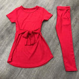 Red Jersey Lounge Tracksuit Set
