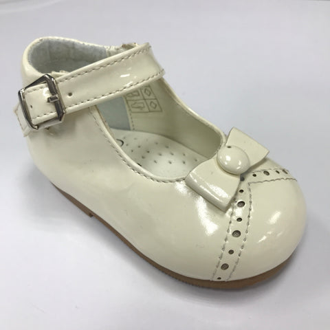Cream Monica Patent Shoe