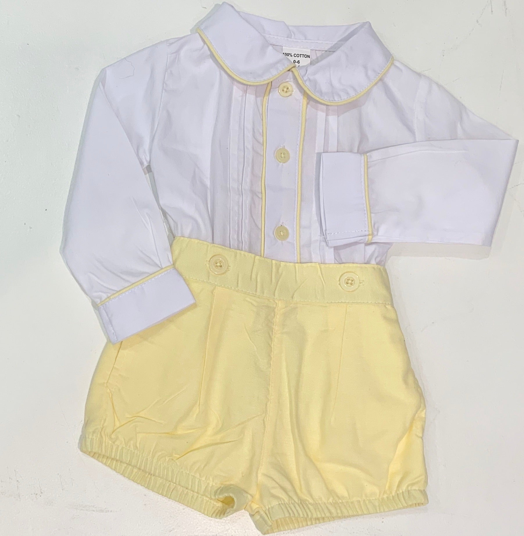 Mabini Boys Lemon Shirt Set