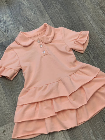 Ruffle Polo Dress Pink