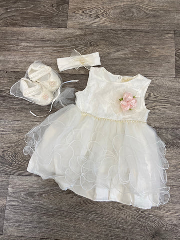 Couche Tot 3PC Tulle Dress Set