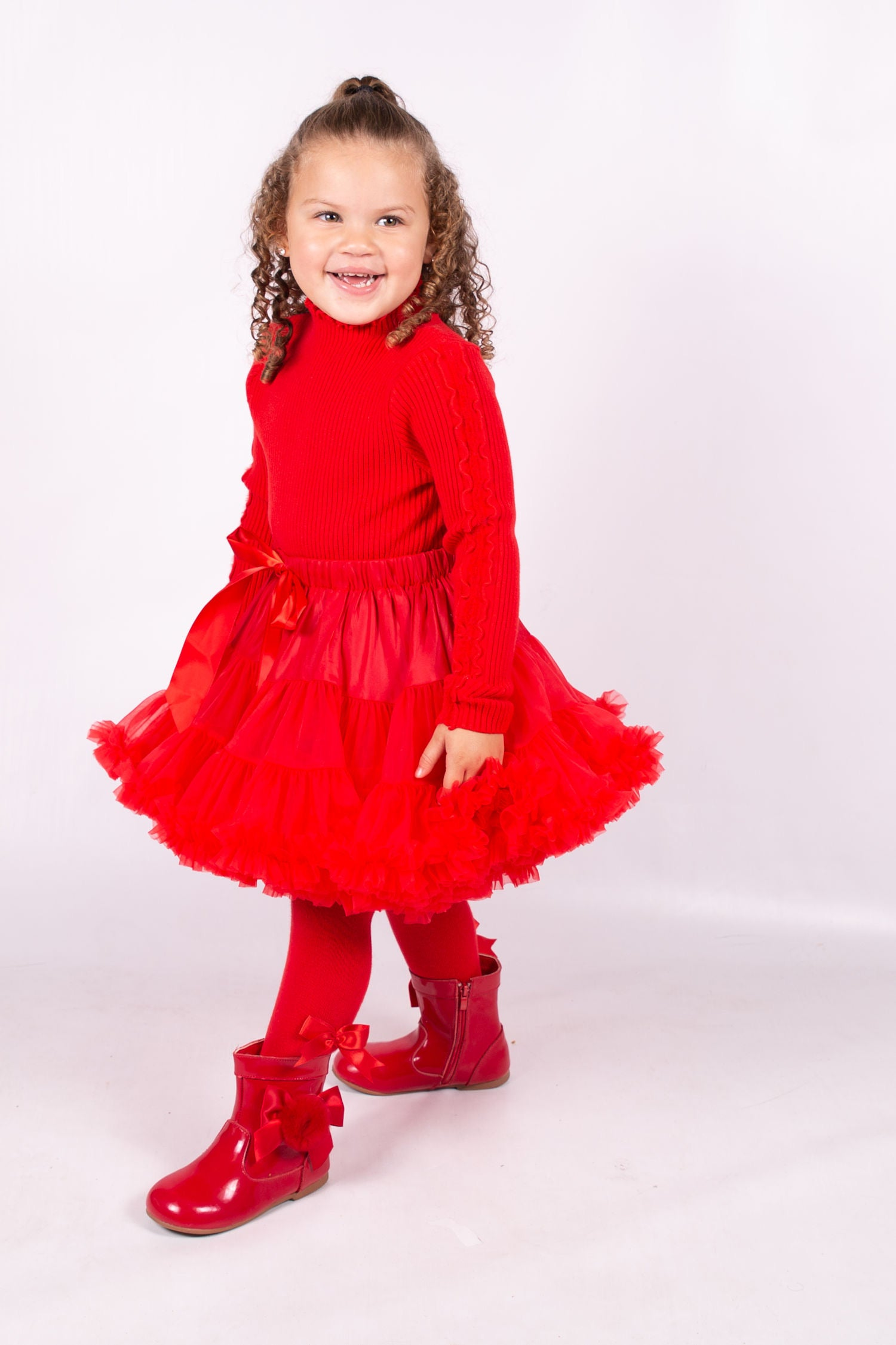 Beau Kid Tutu & Jumper Set Red