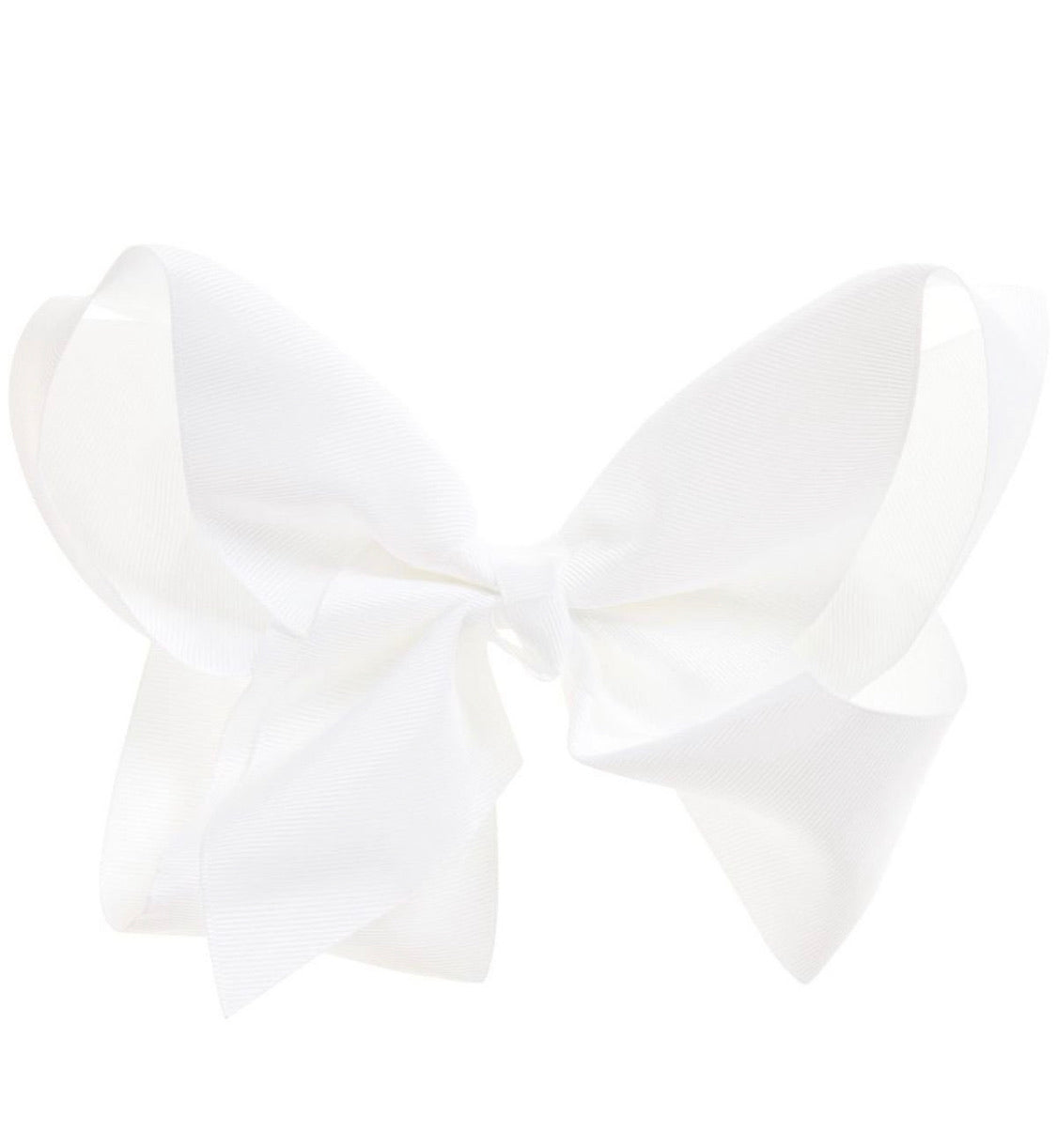 Monogrammed Bow 4inch White