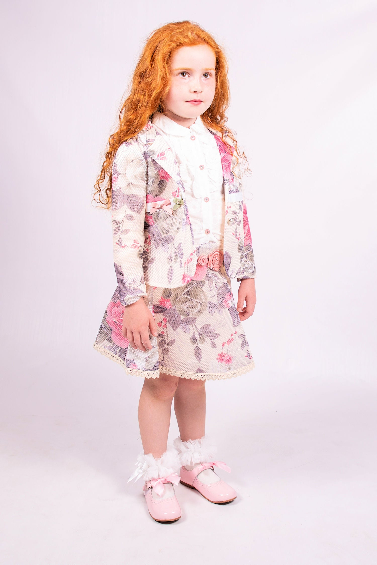 Beau Kid Luxury Floral Skirt Set