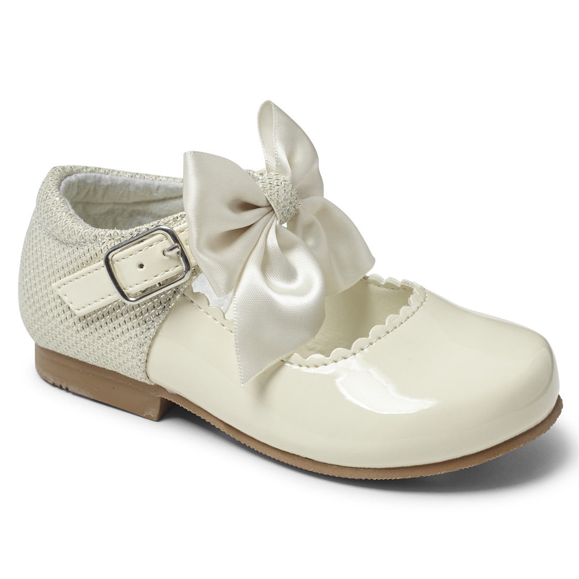 Kristy Ivory Bow Hard Sole Shoes